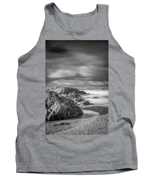 Long Exposure Of A Shingle Beach And Rocks Tank Top