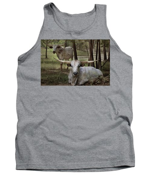 Longhorns On The Watch Tank Top