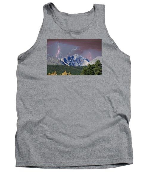Longs Peak Lightning Storm Fine Art Photography Print Tank Top by James BO  Insogna