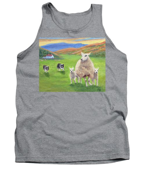 Tank Top featuring the painting Look Back by Fran Brooks