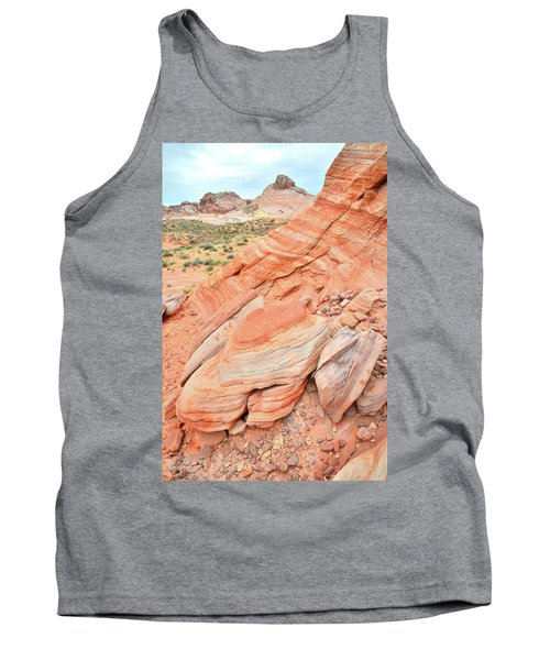 Tank Top featuring the photograph Looking South In Valley Of Fire by Ray Mathis