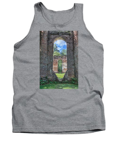 Looking Through The Old Sheldon Church Tank Top by Patricia Schaefer