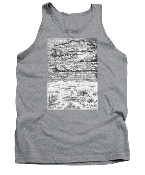 Looming Snowstorm Tank Top by Charles Cater