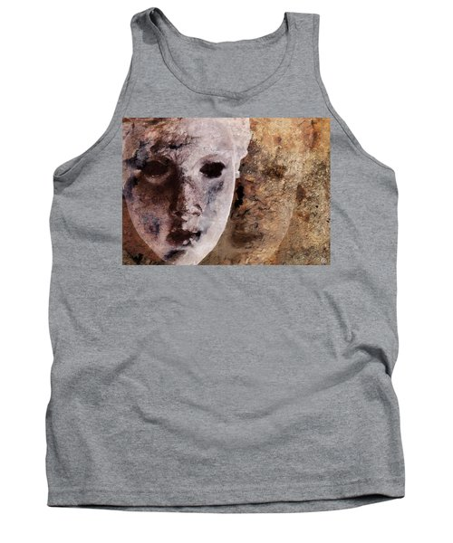Loosing The Real You Behind The Mask Tank Top by Gun Legler