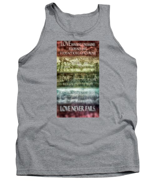 Tank Top featuring the digital art Love Does Not Delight In Evil by Angelina Vick