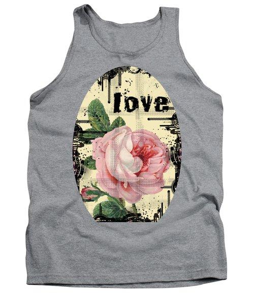 Love Grunge Rose Tank Top by Robert G Kernodle