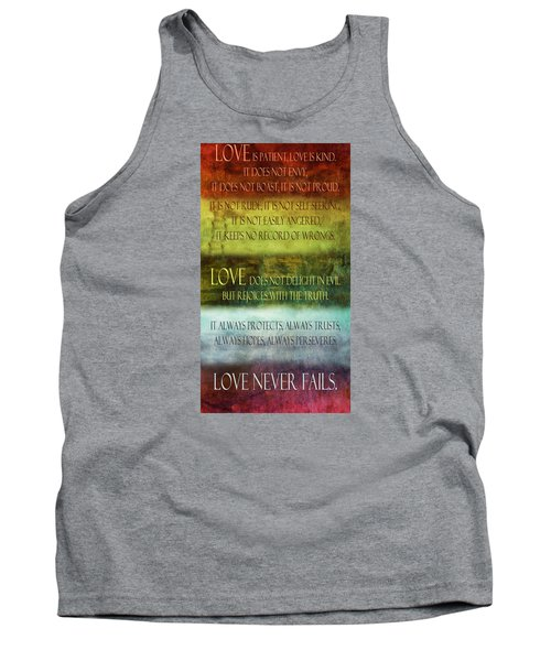 Tank Top featuring the digital art Love Is  by Angelina Vick