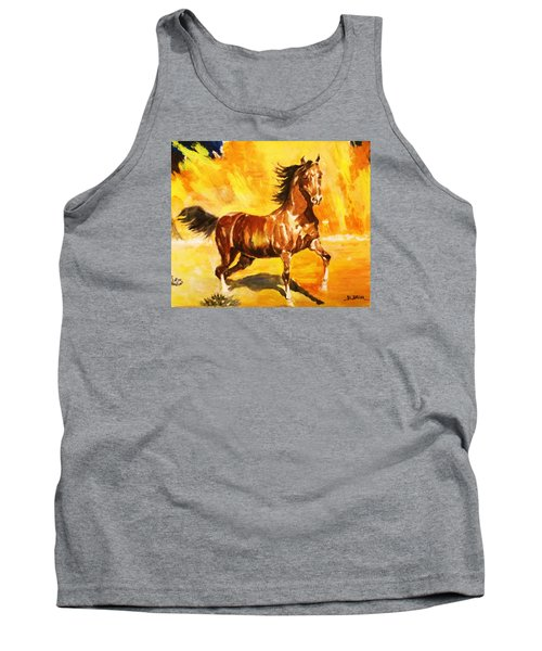 Tank Top featuring the painting Lone Mustang by Al Brown