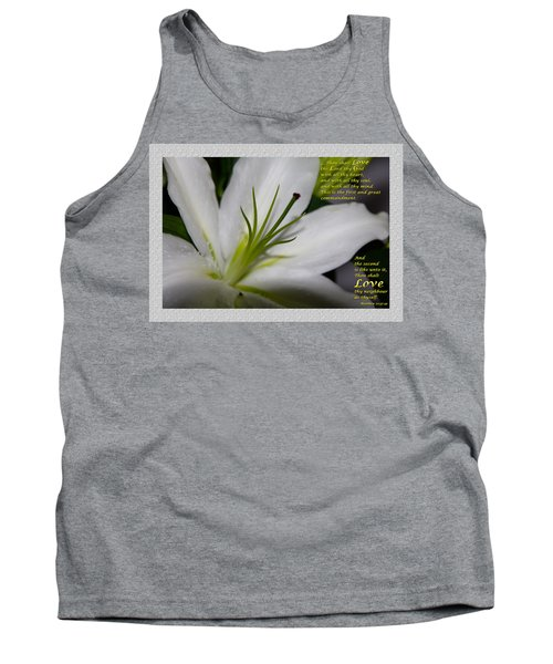 Love Tank Top by Terry Wallace