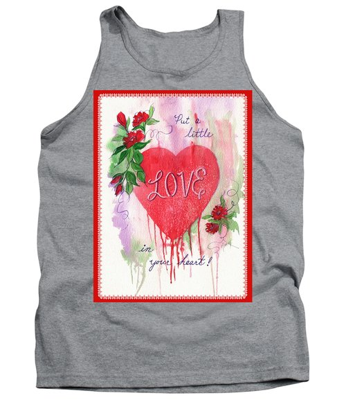 Tank Top featuring the painting Love Valentine by Marilyn Smith