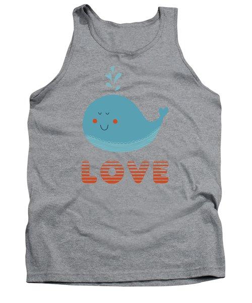 Love Whale Cute Animals Tank Top