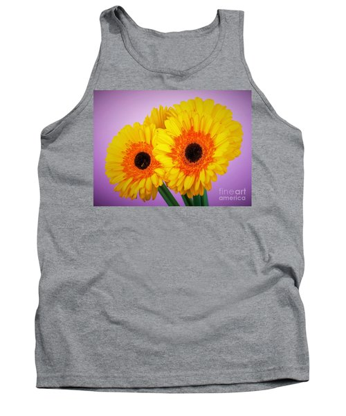 Lovely And Beautiful - Gerbera Daisies Tank Top by Ray Shrewsberry