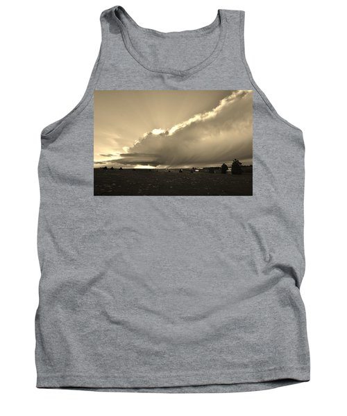 Low-topped Supercell Black And White  Tank Top by Ed Sweeney