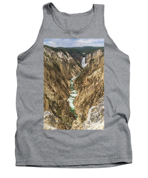 Lower Falls Of The Yellowstone - Portrait Tank Top