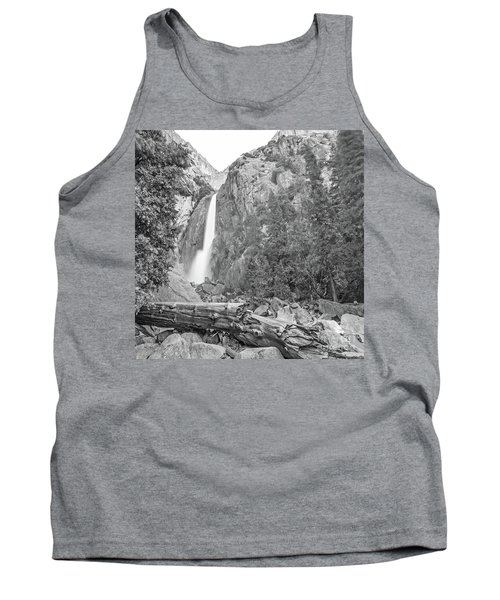 Lower Yosemite Falls In Black And White By Michael Tidwell Tank Top