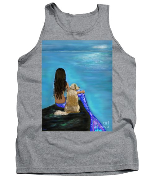 Tank Top featuring the painting Loyal Loving Buddy by Leslie Allen
