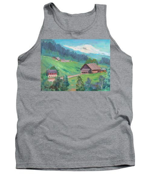 Tank Top featuring the painting Lucerne Countryside by Diane McClary