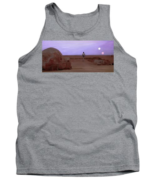Luke Skywalker Tatooine Sunset Tank Top