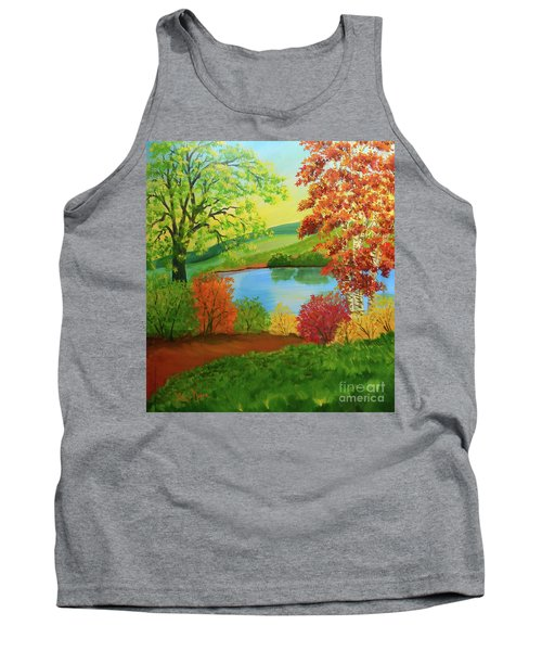 Luminous Colors Of Fall Tank Top