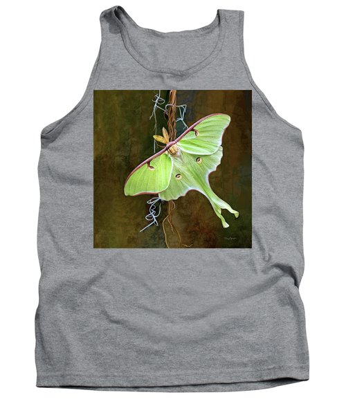 Tank Top featuring the digital art Luna Moth by Thanh Thuy Nguyen