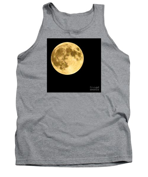 Tank Top featuring the photograph Lunar Close Up by Sandy Molinaro