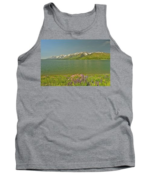 Lupines In The Tetons Tank Top
