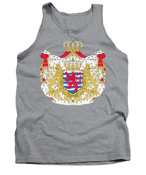 Tank Top featuring the drawing Luxembourg Coat Of Arms by Movie Poster Prints