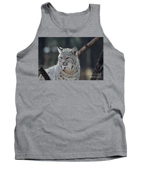 Lynx With A Very Unhappy Face Tank Top by DejaVu Designs