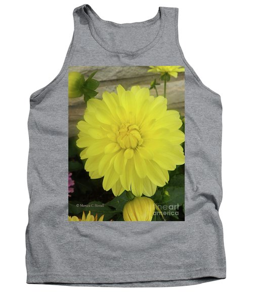 M Shades Of Yellow Flowers Collection No. Y90 Tank Top