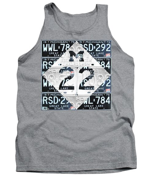 M22 Michigan Highway Symbol Recycled Vintage Great Lakes State License Plate Logo Art Tank Top