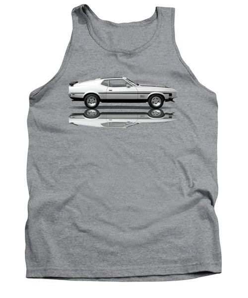 Mach 1 Mustang Reflections In Black And White Tank Top