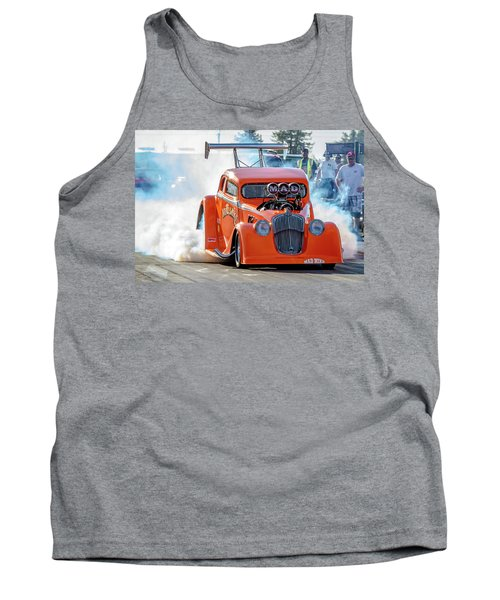 Tank Top featuring the photograph Mad Mike Racing by Bill Gallagher