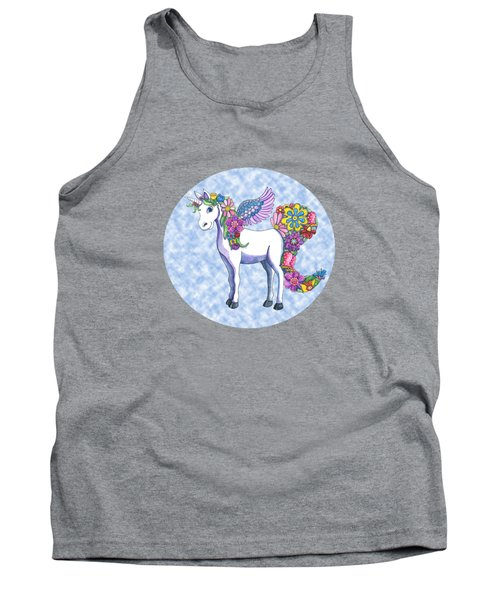 Madeline The Magic Unicorn 2 Tank Top by Shelley Wallace Ylst