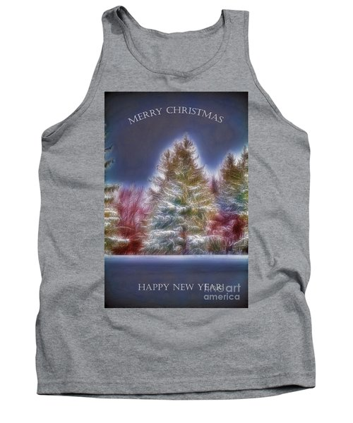 Tank Top featuring the photograph Merrry Christmas And Happy New Year by Jim Lepard