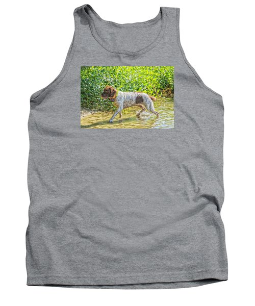 Tank Top featuring the photograph Maggie Stride by Constantine Gregory