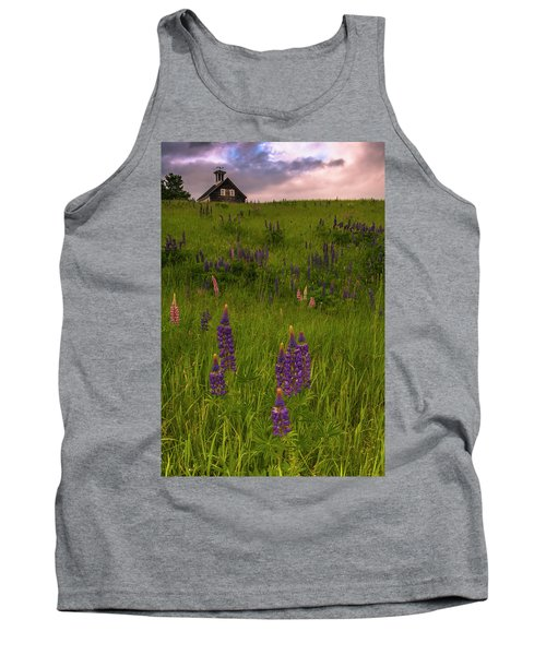 Maine Lupines And Home After Rain And Storm Tank Top