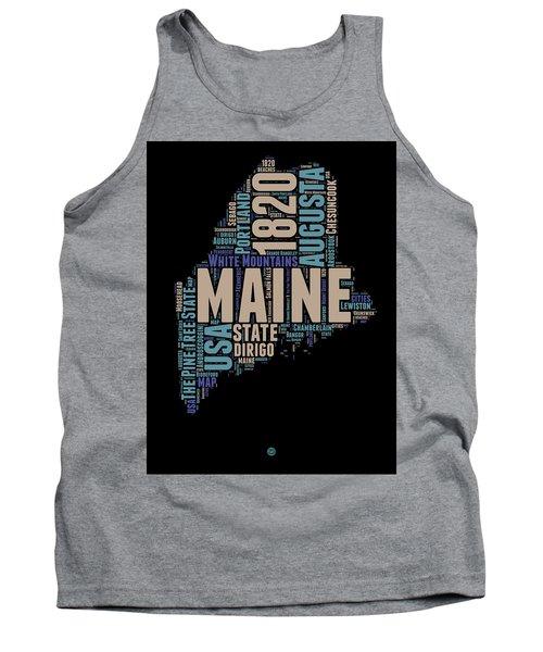 Maine Word Cloud 1 Tank Top