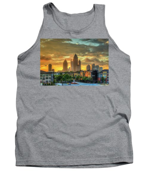 Majestic Gold Midtown Atlantic-station Atlanta Sunrise Art Tank Top