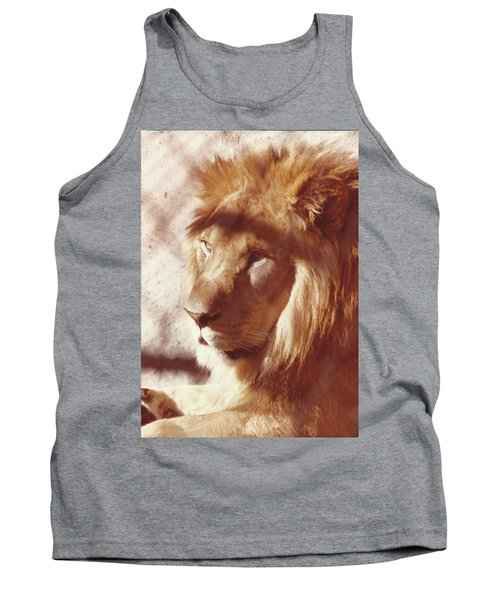 Majestic Lion Tank Top by Margaret Harmon