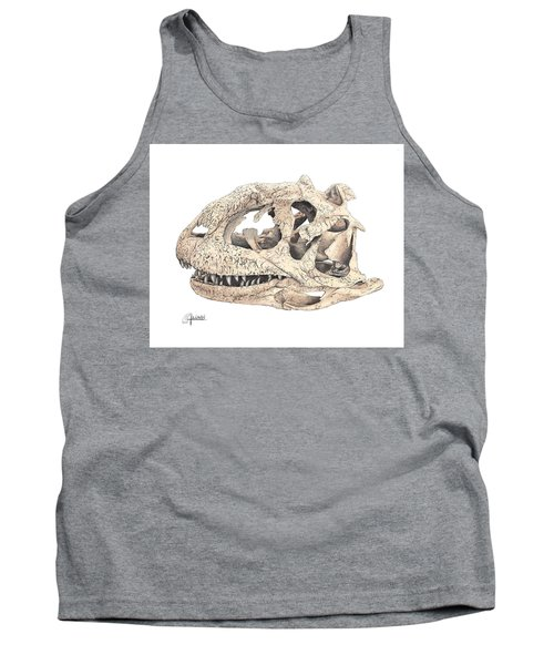 Majungasaur Skull Tank Top
