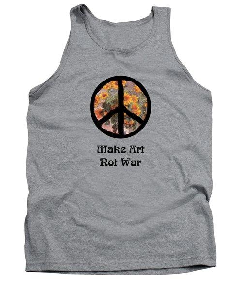 Make Art Not War Peace Sign Tank Top