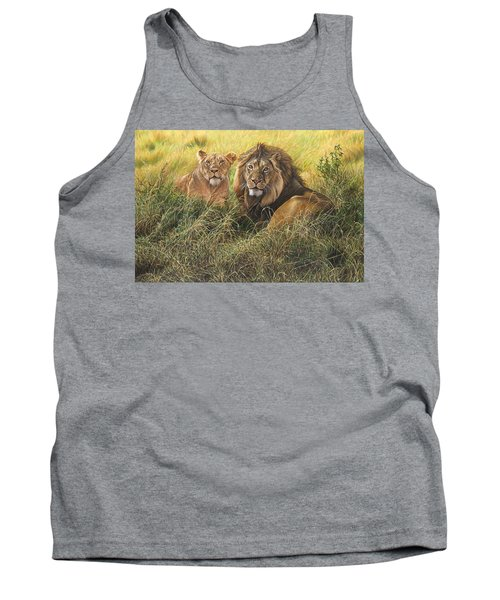 Male And Female Lion Tank Top
