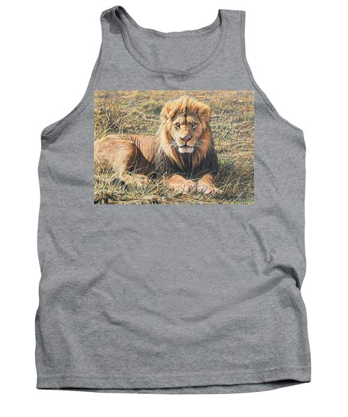 Male Lion Portrait Tank Top