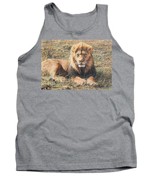 Male Lion Portrait Tank Top