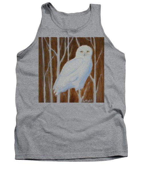 Male Snowy Owl Portrait Tank Top