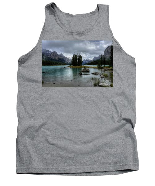 Maligne Lake Spirit Island Jasper National Park Alberta Canada Tank Top