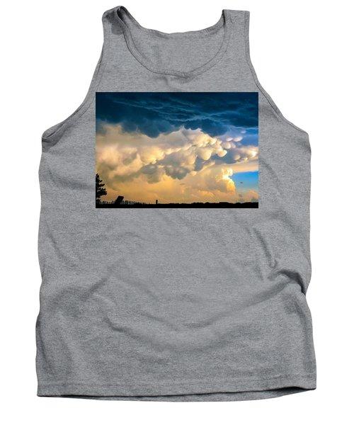 Mammatus Clouds At Sunset Tank Top