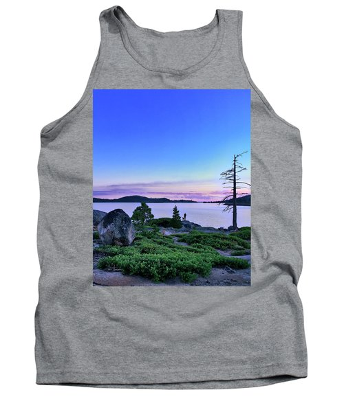 Tank Top featuring the photograph Man And Dog by Jim Thompson
