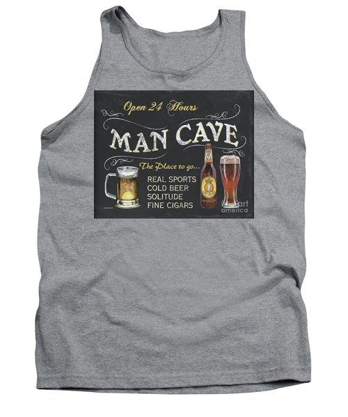 Man Cave Chalkboard Sign Tank Top