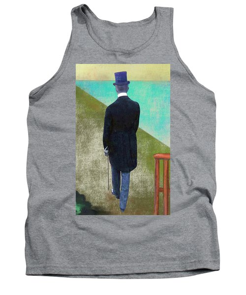 Man In Hat Tank Top